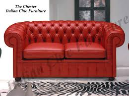 Sofa Warehouse Chester Chester 2 1 1 Italian Leather Sofa Set Red