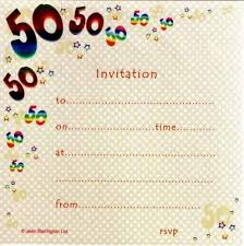 50th birthday invitations foil printed in packs of 10 party wizard