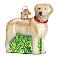 standing yellow lab ornament callisters