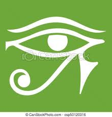eye of horus deity icon green eye of horus vector