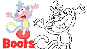how to draw cartoons boots dora the explorer characters step by
