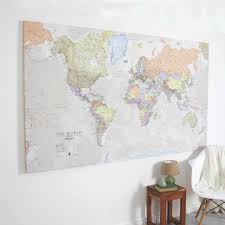 Mali Location On World Map by Giant Canvas World Map By Maps International Notonthehighstreet Com