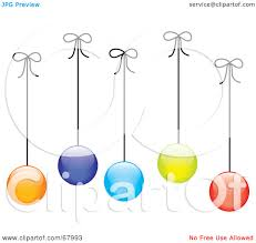 royalty free rf clipart illustration of colorful christmas balls