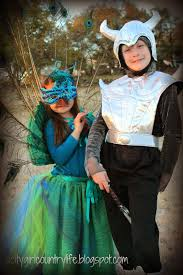 city country life peacock costume and knight costume