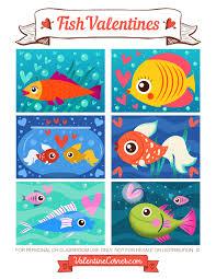 fish valentines printable fish valentines