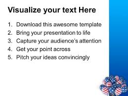 american flag balloons for independence day powerpoint templates
