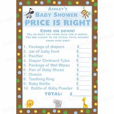 free printable baby shower games baby animals answers