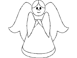 free printable coloring pages kids christmas stocking angel