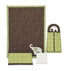 Green Elephant Crib Bedding S Green Elephant 4 Crib Bedding Set