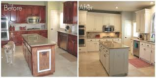 28 before and after photos of painted kitchen cabinets intended