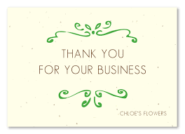 business thank you cards plantable thank you cards on seeded paper organic business by