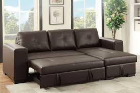 Convertible Storage Sofa by Poundex F6930 Espresso Pu Convertible Sectional Storage Sofa Bed