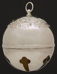 towle sleigh bell silverplate ornament at replacements ltd