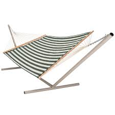 Padded Hammock Chair Large Hunter Green U0026 White Stripe Quilted Hammock Dfohome