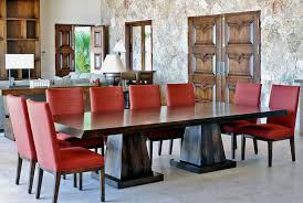 double pedestal dining table dining room contemporary with