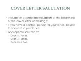 cover letter salutation salutation in a cover letter salutations for letters image titled