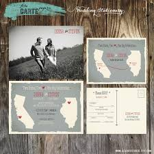 two states two hearts one big celebration wedding invitation