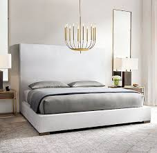 Fabric Platform Bed Rh Modern S Modena Non Tufted Panel Fabric Platform Bed