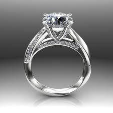 twist engagement ring custom mobius twist 3 carat diamond engagement ring