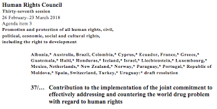 cnd led l problems major shift in global drug policies the human rights council