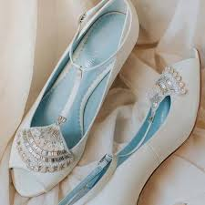 wedding shoes miss white bride