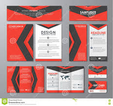 corporate set in the style of the material design stock vector