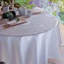 nappe ronde tissu enduit nappe sur mesure de table comptoir du sud
