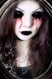 halloween costume with black sclera contacts halloween colored