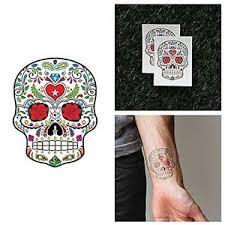 tattify sugar skull temporary ring around set of 2