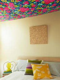 Temporary Fabric Wallpaper by 6 Ways To Perk Up Your Ceiling Hgtv