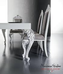 mesa de comedor de diseño nuevo barroco de madera de vidrio