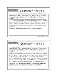 analysis character analysis template