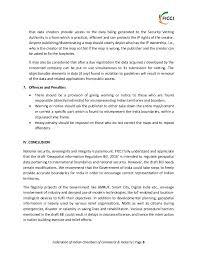 ficci recommendations geospatial information regulation bill