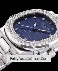 bracelet diamond watches images Patek philippe stainless steel bracelet diamond watch blue jpg