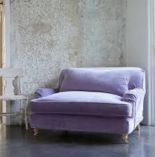 Big Oversized Chairs Lilac Loveseat Lavender Violet Purple Aubergine Velvet Sofa