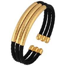 free size bracelet images Buy wire mesh black gold plated free size cuff kada bracelet for jpg