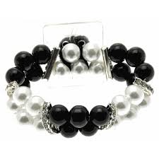 Black And White Corsage Double Bubble White And Black Corsage Bracelet Corsage Creations