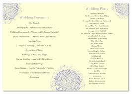Wedding Program Paper Recycled Wedding Programs Foldover