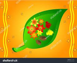 indian traditional betel leaves arecanutflowers haldi stock