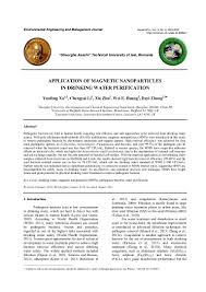 application of magnetic nanoparticles in drinking water purification