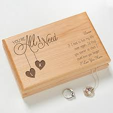 personalized jewelry box personalized wood jewelry box you re all i need
