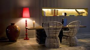 red standing lamp interior design ideas