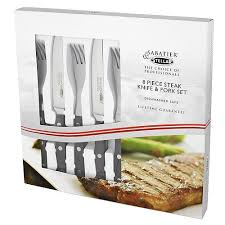 stellar kitchen knives stellar steak knives and forks set of four amazon co uk