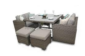 Versatility Deluxe Sofa Rattan Cube Garden Furniture Set Natural - Rattan furniture set