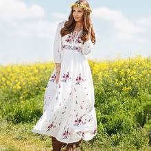 white hippy dress promotion shop for promotional white hippy dress