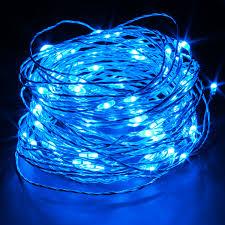 String Of Led Lights by Blue Led String Light 65ft