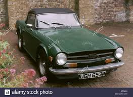 triumph tr6 in british racing green front view enterprise