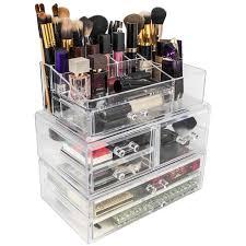 Makeup Organizer Desk Organizers Interesting Vanity Design With Makeup Organizer