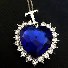 heart necklace from titanic images Titanic heart of the ocean sapphire crystal chain necklace pluto99 jpeg