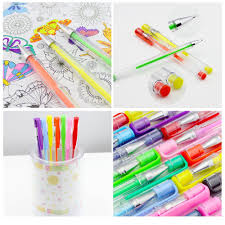amazon com caliart 100 gel pens with case for coloring